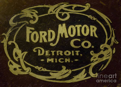 Ford Motor Company Poster by David Millenheft