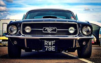 Ford Mustang Black And Old Poster by Art Work