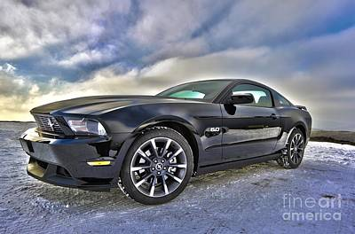 Poster featuring the photograph ford mustang car HDR by Paul Fearn