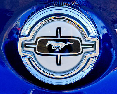 Ford Mustang Gas Cap Poster by Jill Reger