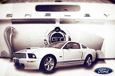 Ford Mustang Shelby Gt  Poster by Gray  Artus