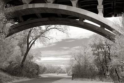 Ford Parkway Bridge Over West River Road In Minneapolis Poster