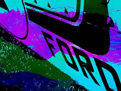 Ford Racing  Poster by Naxart Studio