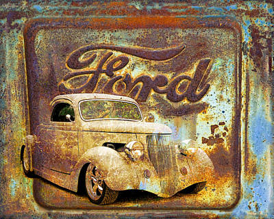 Ford Coupe Rust Poster by Steve McKinzie