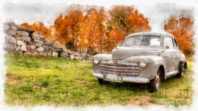 Ford Superdelux 1946 Sedan Coupe Poster by Edward Fielding