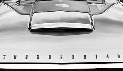 Ford Thunderbird Monochrome Poster by Tim Gainey