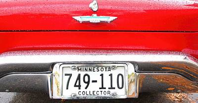 Ford With Minnesota Licence Plate Poster