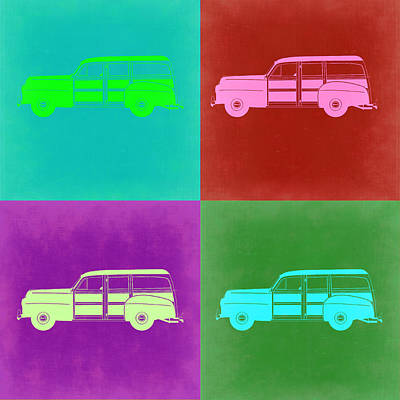Ford Woody Pop Art  Poster by Naxart Studio