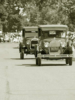 Fords On Parade Poster by Pamela Patch