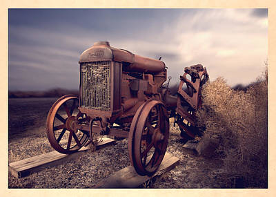 Fordson F Tractor Poster by Yo Pedro