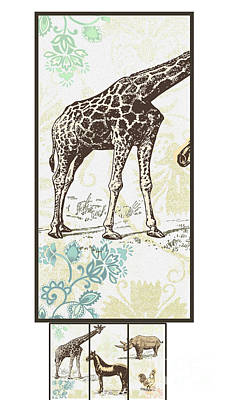 Forest Animals Group Suitable For Hanging Frames Poster