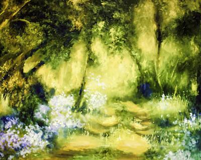 Forest Bluebells Poster
