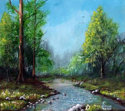 Poster featuring the mixed media Forest Creek by Kenny Henson