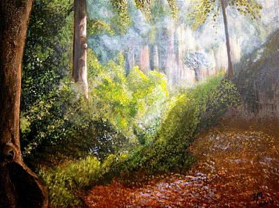 Forest Glade Poster by Heather Matthews