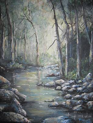Poster featuring the painting Forest Stream by Megan Walsh