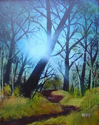 Poster featuring the painting Forest Sunlight by Charles and Melisa Morrison