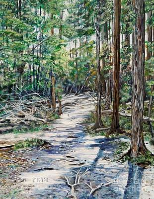 Forest Trail Poster by Marilyn  McNish