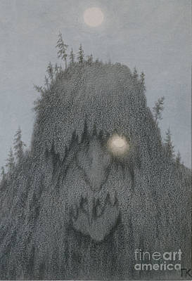 Forest Troll Poster by Theodor Kittelsen