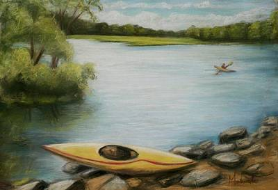 Poster featuring the painting Forge Pond by Melinda Saminski