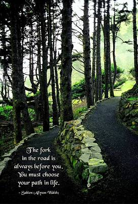 Fork In The Road Poster by Mike Flynn