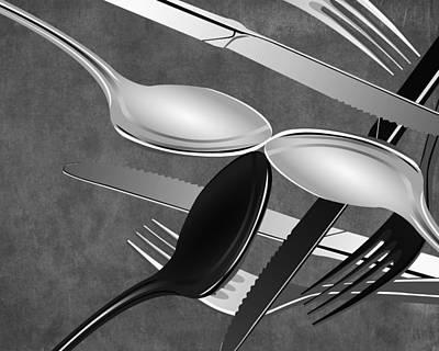 Fork Knife Spoon 3 Poster