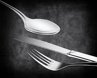 Fork Knife Spoon Poster