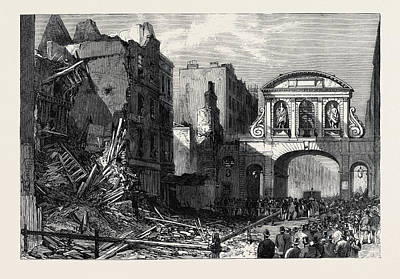 Forlorn Condition Of Temple Bar 1868 Poster by English School