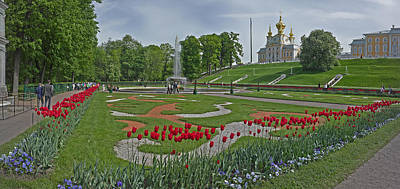Formal Garden In Front Of A Church Poster by Panoramic Images