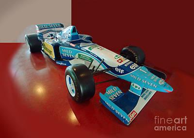 Formula 1 Benetton Renault From Michael Schumacher Poster by Rudi Prott