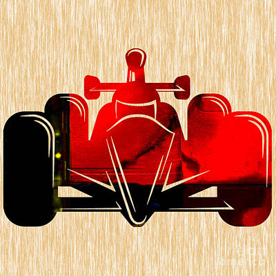 Formula One Race Car Poster