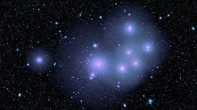Fornax Cluster Galaxies Poster by Nasa/jpl-caltech