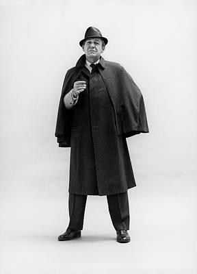 Forrest Tucker Wearing A Tweed Coat Poster by Leonard Nones