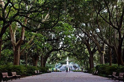 Forsyth Park Fountain Savannah Georgia  Poster