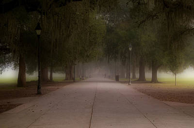 Poster featuring the photograph Forsyth Park Pathway by Frank Bright