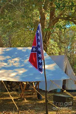 Confederate Encampment At Fort Anderson  Poster by Jocelyn Stephenson