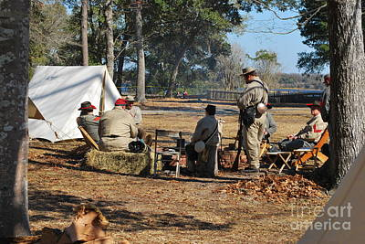 Confederate Encampment At Fort Anderson 3 Poster by Jocelyn Stephenson