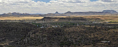 Fort Davis From Davis Mountains State Park Poster