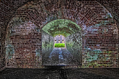 Fort Macomb Tunnel Poster by Andy Crawford