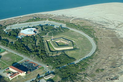 Fort Macon From The Air Poster