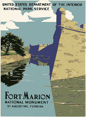 Fort Marion National Monument Poster by Georgia Fowler