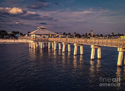 Fort Myers Beach Fishing Pier Poster