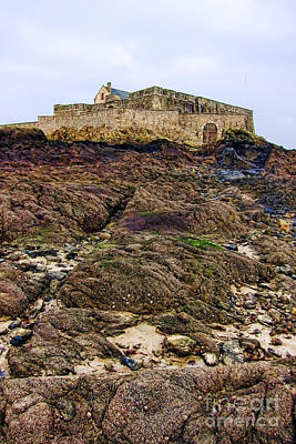 Fort National In Saint Malo Brittany Poster by Olivier Le Queinec