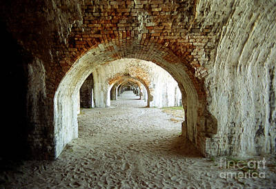 Poster featuring the photograph Fort Pickens Arches by Tom Brickhouse