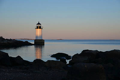 Fort Pickering Lighthouse Winter Island Salem Ma Poster by Toby McGuire