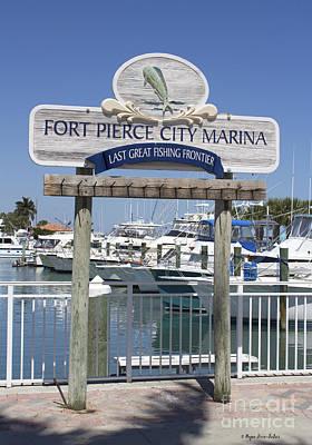 Fort Pierce City Marina By Megan Dirsa-dubois Poster