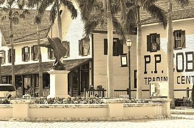 Fort Pierce Florida In Sepia Poster