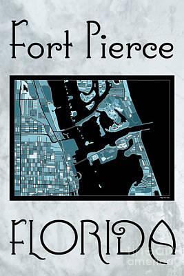 Fort Pierce Map No.4 Poster by Megan Dirsa-DuBois