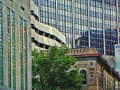 Fort Worth Old And New Poster by Kathy Churchman