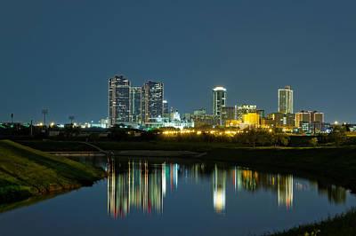Fort Worth Reflection Poster by Jonathan Davison