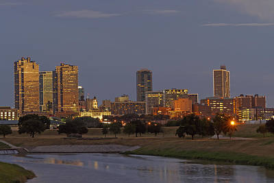 Fort Worth Skyline Golden Hour Poster by Jonathan Davison